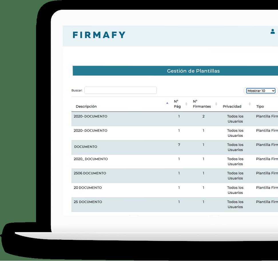 Firmafy - Funciones exclusivas
