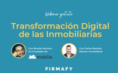 Webinar gratuito Transformación Digital de las Inmobiliarias
