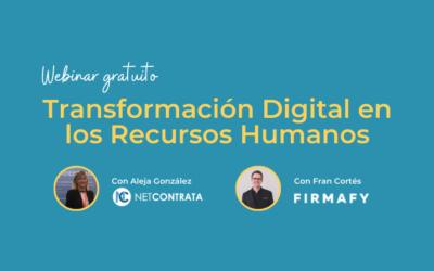 Webinar gratuito Transformación Digital en los Recursos Humanos