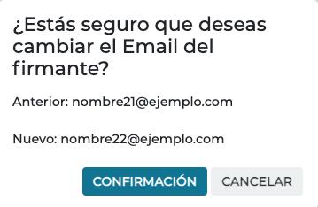Cambiar el email del firmante en Firmafy