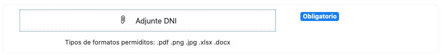 Recuadro para adjuntar archivos en Firmafy