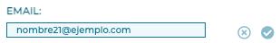 Recuadro para modificar el email en Firmafy