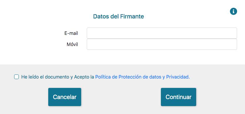 Aceptación de Firmalink de Firmafy