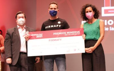 Firmafy recibe el primer premio en el Minerva Day